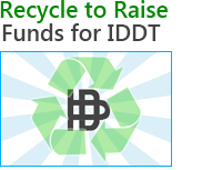 Recycle to raise funds for IDDT