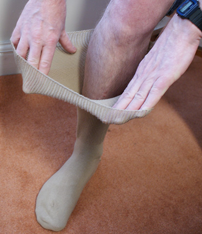 Fuller-sock demonstration