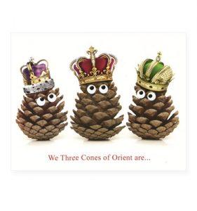 We three cones of orient are...