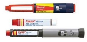 New red and yellow Fiasp pen and cartidge