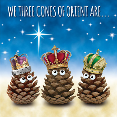 we three cones card